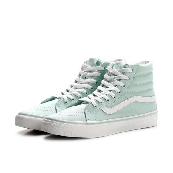 0348c65ddf4d43 Vans Shoes - EUC mint green sk8 hi vans